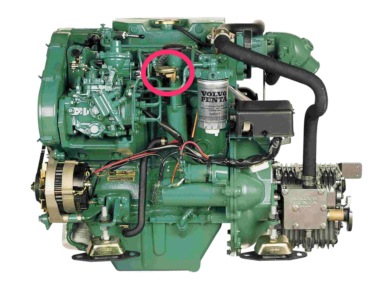 MD22 crankcase breather PCV valve (also Perkins Prima) part